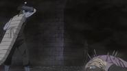 Kisame se prepara contra Yagura depois de matar Fuguki
