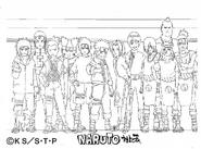 Screenshot=Kiba, Akamaru, Neji, Shikamaru, Choji, Sasuke, Naruto, Sakura, Rock Lee, Sakon, Jirobo, Tayuya e Kidomaru Clássico