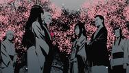 Hanabi e Hiashi no casamento de Hinata