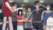 Kiba e seus companheiros de sala tentamdescobrir o segredo do exame