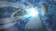 Boruto ataca Jūgo com o Rasengan