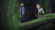 Hōki e Enko conversam sobre os colegas