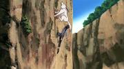 Kiba e Akamaru treinando