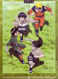 Naruto Calendario 2006 Julio-Agosto Versión B