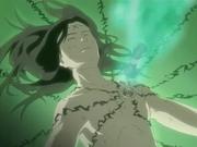 Neji sendo curado pelo Chikatsu Saisei no Jutsu