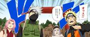 O Time de Resgate ao Kazekage chega ao esconderijo da Akatsuki (Mangá Colorido)