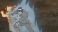 Guy quebra coral das costas de Naruto