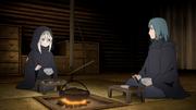 Fūshin y Chino cenando