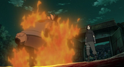Kakashi atrapado en un Genjutsu de Sasuke
