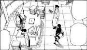 Naruto recebendo relatórios de Ibiki
