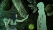 Hinata guards against Toneri