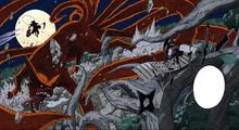 La batalla entre Hashirama Senju y Madara Uchiha