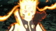 Naruto con el Modo Kurama