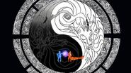 O chakra de Kurama, Minato e Naruto se unindo