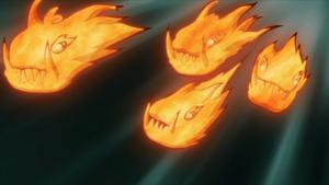 Elemento Fuego Jutsu Liberación de la Canción del Dragón de Fuego Anime