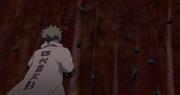 Minato junto a los demás frenando el Verdadero Chibaku Tensei