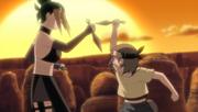 Pakura y Maki entrenando en el pasado
