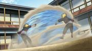 Hanabi utilizando los Ocho Trigramas Palma de Retorno al Cielo