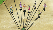 Shikadai prende as meninas com sua sombra