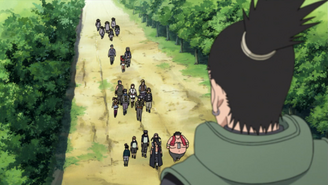 Genin entering Konoha