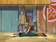 Karashi e Sansho ajudam Lee