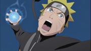 Naruto usando el Rasengan