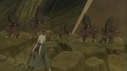 Os clones de Madara chegam à Tsunade