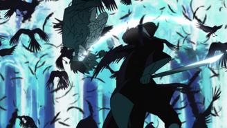Itachi attacks Kabuto
