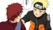Naruto ao lado de Gaara (Mangá Colorido)