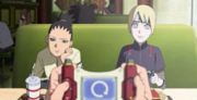Shikadai e Inojin se percatan de la trampa que hace Boruto en el videojuego