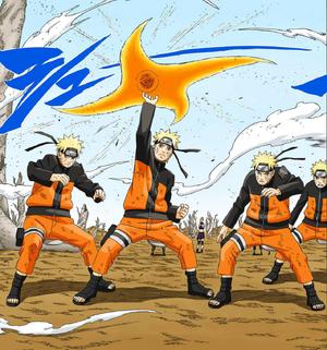 Elemento Viento Rasen Shruiken Manga