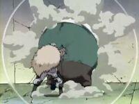 Dosu derrota a Chōji