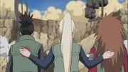 Ino encourage Shikamaru et Chôji
