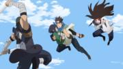 Konohamaru vs Hidari e Ashimaru