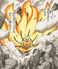 Modo de Chakra do Nove-Caudas (Kurama - Mangá Colorido)