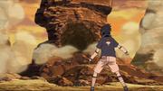 Sasuke destrói a rocha