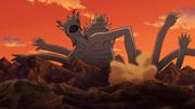 Shinju se transforma em Dez-Caudas