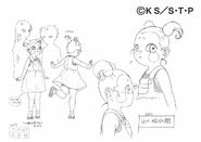 Arte Pierrot - Yome criança