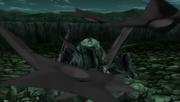 Hiruzen uses giant shuriken