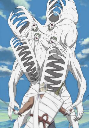 Jutsu Fusión de Zetsu Blanco Anime