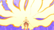 Naruto probando los ninjutsus de barrera