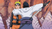 Sasuke sortant son épée