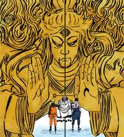 Hagoromo entrega seu poder para Naruto e Sasuke