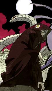 Kabuto tras implantarse el ADN de Orochimaru