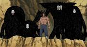 Kakuzu junto con sus cuatro corazones