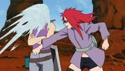 Karin attacks Suigetsu