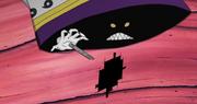 Zetsu liberando un hueso y abriendo una apertura de dimensiones