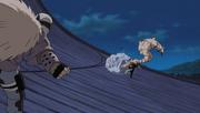 Dosu fights Gaara