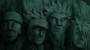 Os Hokage em seus rostos