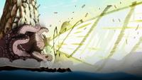 Gyūki dispara una bola no comprimida e ingerida, que inicia una poderosa explosión